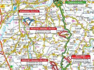 Rally Alba 18: la mappa del percorso 1
